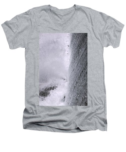 Waterfall Close-up Men's V-Neck T-Shirt