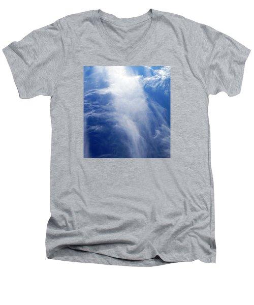Waterfall In The Sky Men's V-Neck T-Shirt