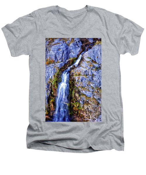Waterfall-mt Timpanogos Men's V-Neck T-Shirt