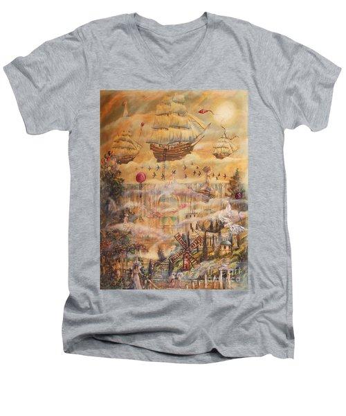 Waterfall Of Prosperity Men's V-Neck T-Shirt