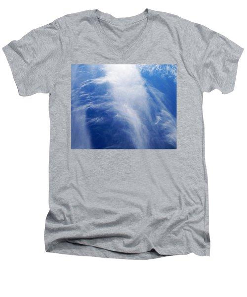 Waterfalls In The Sky Men's V-Neck T-Shirt by Belinda Lee