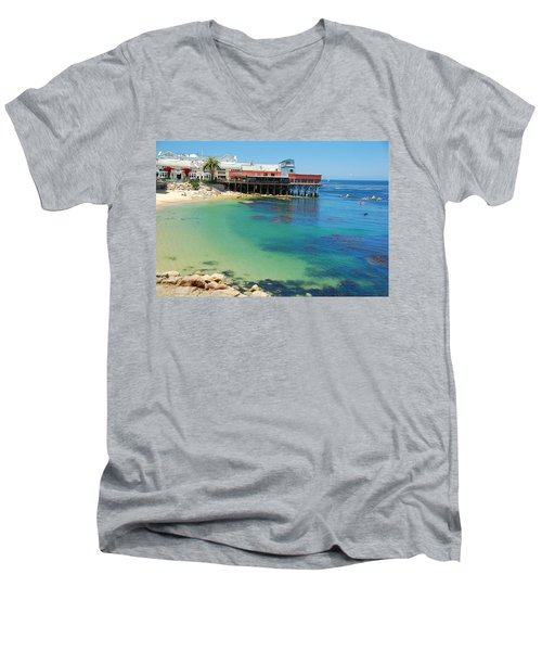 Waterfront At Cannery Row Men's V-Neck T-Shirt