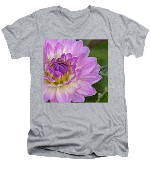 Waterlily Dahlia Men's V-Neck T-Shirt