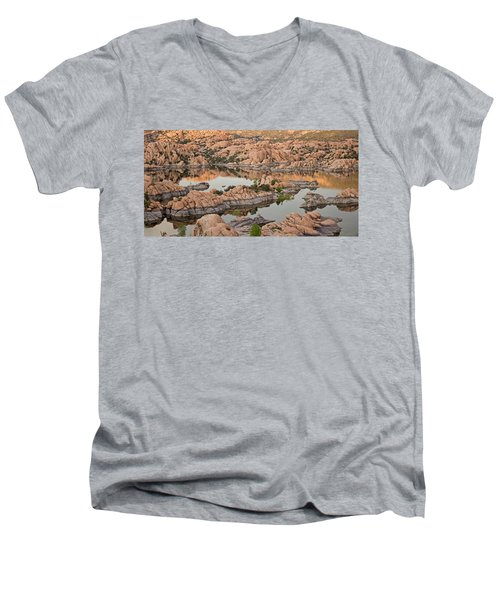 Watson Lake Sunset Men's V-Neck T-Shirt