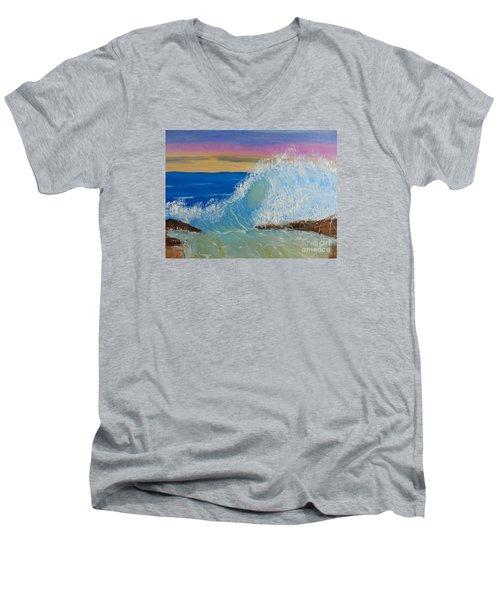 Wave At Sunrise Men's V-Neck T-Shirt