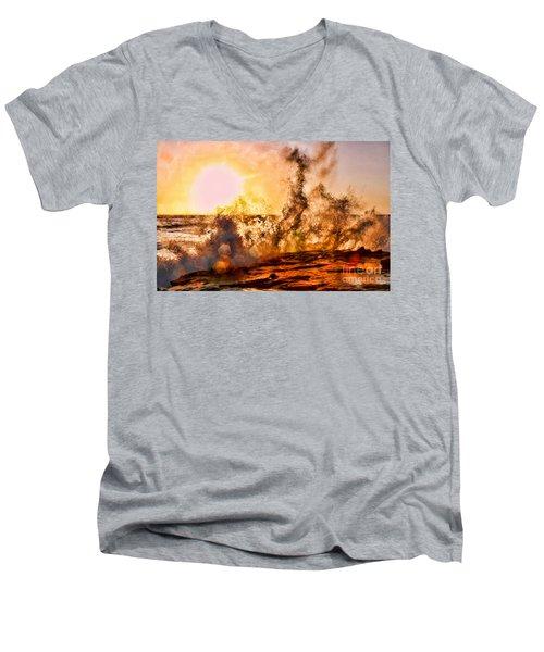 Wave Crasher La Jolla By Diana Sainz Men's V-Neck T-Shirt