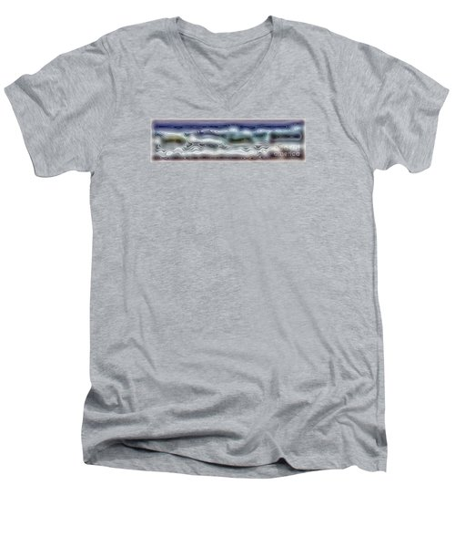 Abstract Waves 15 Men's V-Neck T-Shirt