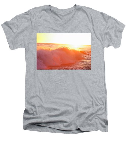 Waves In Sunset Men's V-Neck T-Shirt