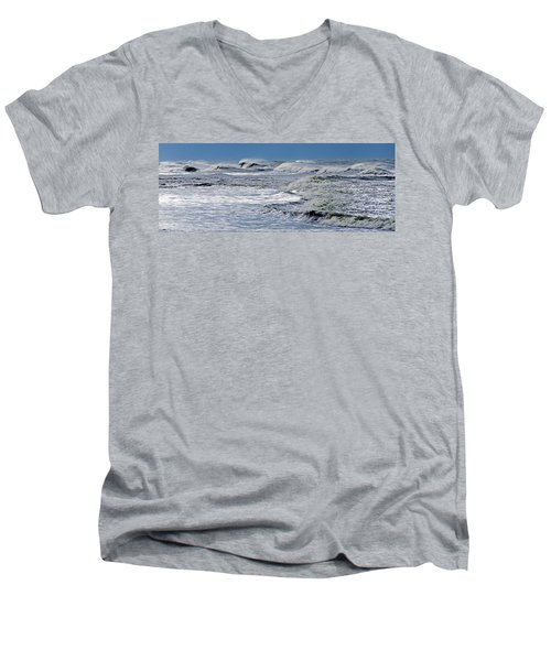 Waves Off Sandfiddler Rd Corolla Nc Men's V-Neck T-Shirt