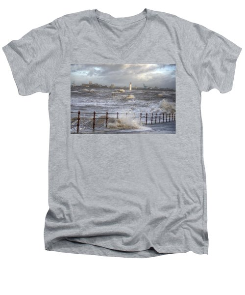 Waves On The Slipway Men's V-Neck T-Shirt