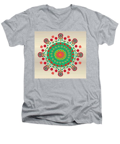 Wayuu Art Garden Men's V-Neck T-Shirt