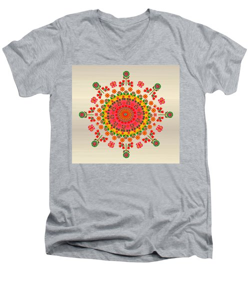 Wayuu Art Happiness Men's V-Neck T-Shirt