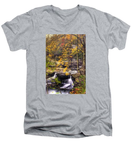 We Have Reached The Mill - Glade Creek Grist Mill Babcock State Park West Virginia - Autumn Men's V-Neck T-Shirt