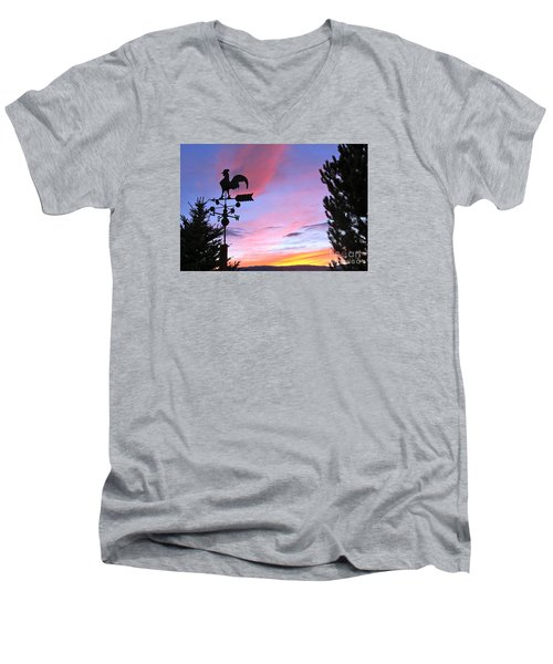 Weather Vane Sunset Men's V-Neck T-Shirt