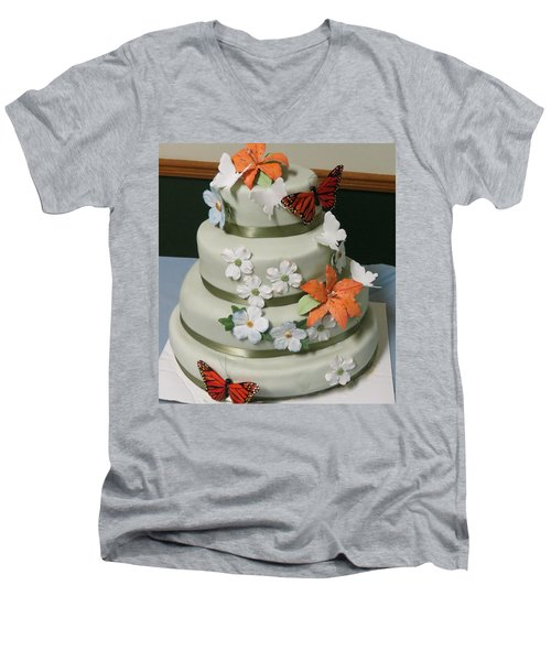 Wedding Cake For April Men's V-Neck T-Shirt