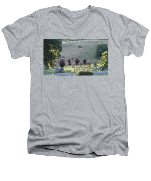 Men's V-Neck T-Shirt featuring the photograph Wedding Grounds by Shawn Marlow