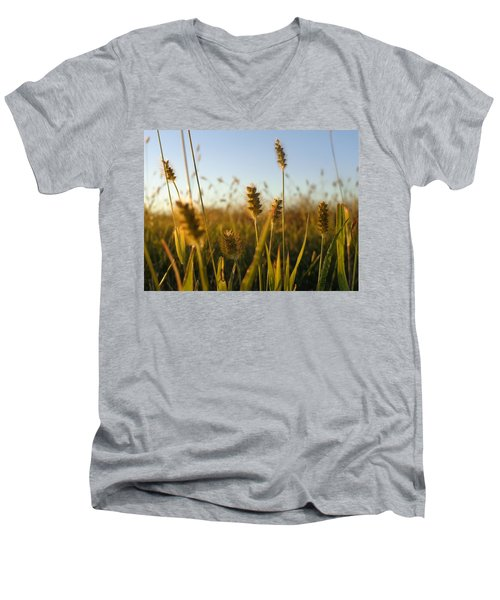 Men's V-Neck T-Shirt featuring the photograph Weeds by Joseph Skompski