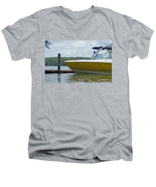 Men's V-Neck T-Shirt featuring the photograph Weekend Fun by Charles Beeler