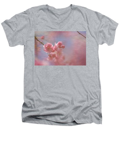 Weeping Cherry Blossoms Men's V-Neck T-Shirt