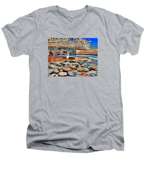 Weighed In Stone Men's V-Neck T-Shirt by Catherine Lott
