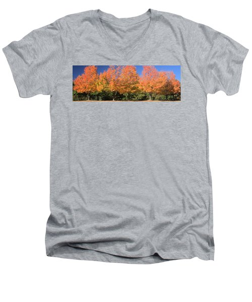 Men's V-Neck T-Shirt featuring the photograph Welcome Autumn by Gordon Elwell