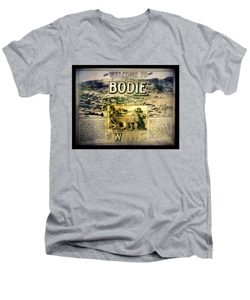 Welcome To Bodie California Men's V-Neck T-Shirt
