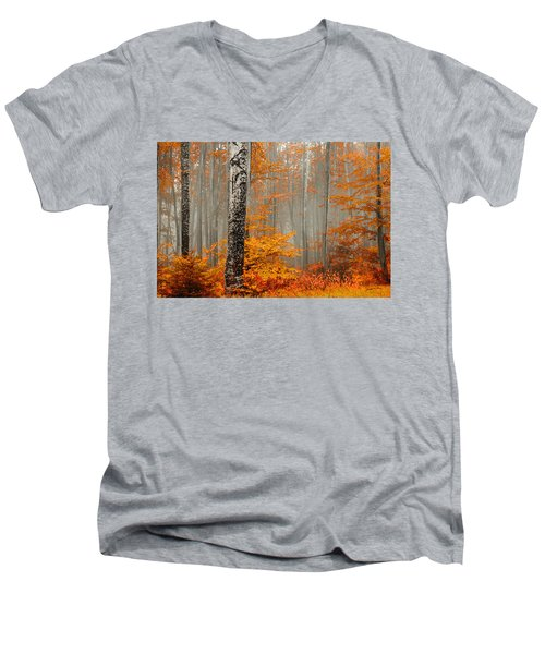 Welcome To Orange Forest Men's V-Neck T-Shirt