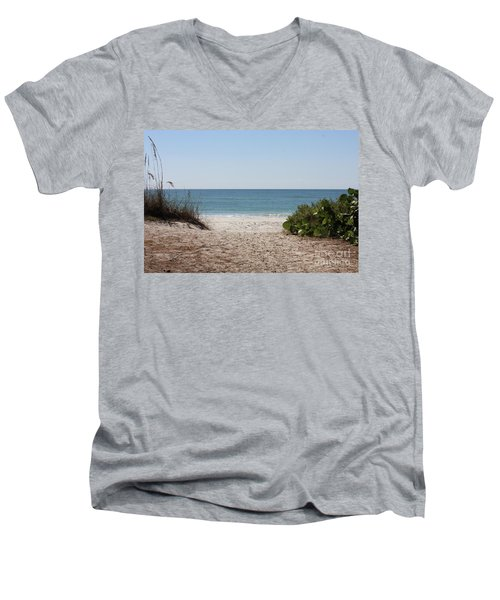 Welcome To The Beach Men's V-Neck T-Shirt