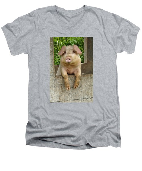 Well Hello There Men's V-Neck T-Shirt by Bob Christopher