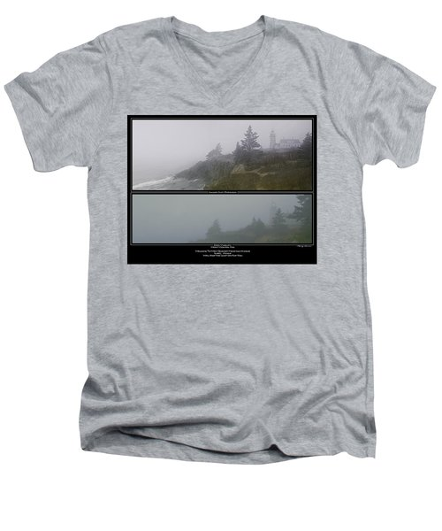 Men's V-Neck T-Shirt featuring the photograph We'll Keep The Light On For You by Marty Saccone