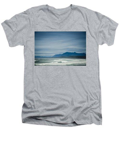 West Coast Exposure  Men's V-Neck T-Shirt by Roxy Hurtubise