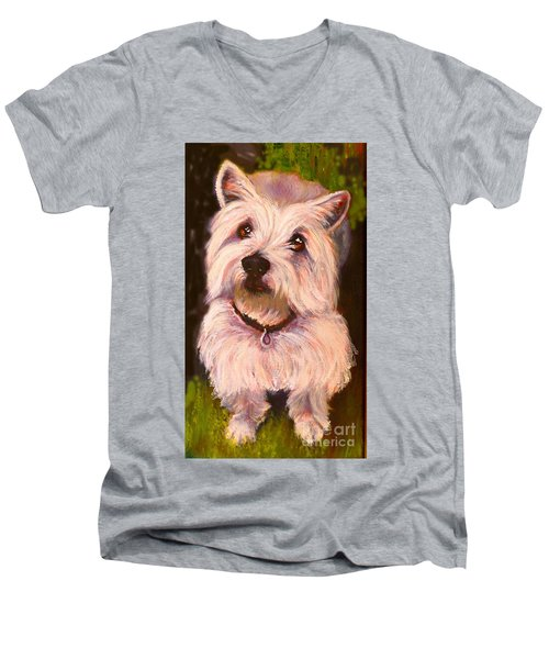 West Highland Terrier Reporting For Duty Men's V-Neck T-Shirt