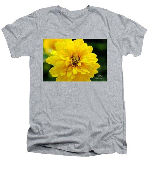 West Virginia Marigold Men's V-Neck T-Shirt by Melissa Petrey