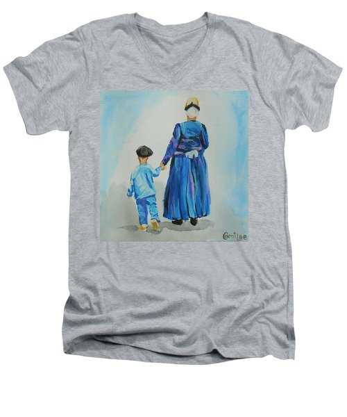 Westfriese Woman And Boy Men's V-Neck T-Shirt