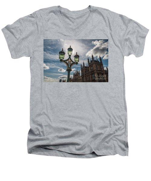 Men's V-Neck T-Shirt featuring the photograph Westminster by Matt Malloy