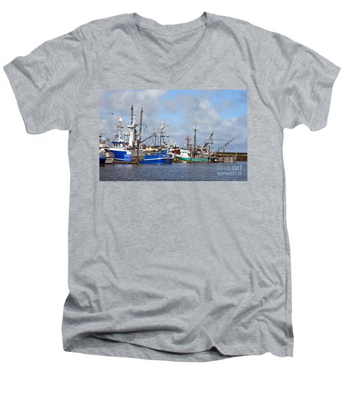 Westport Fishing Boats 2 Men's V-Neck T-Shirt by Chalet Roome-Rigdon
