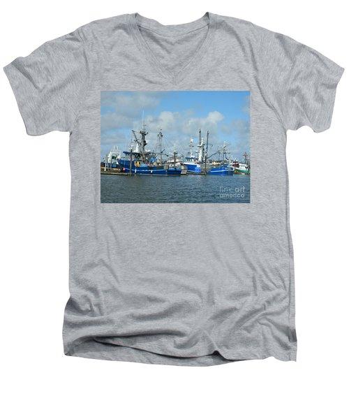 Westport Fishing Boats Men's V-Neck T-Shirt