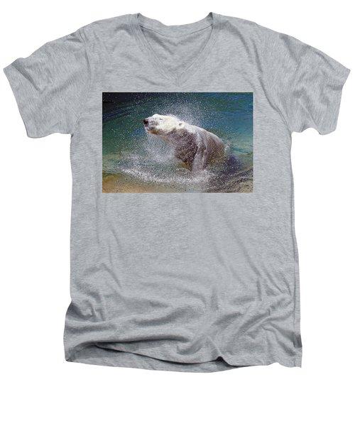 Wet Polar Bear Men's V-Neck T-Shirt