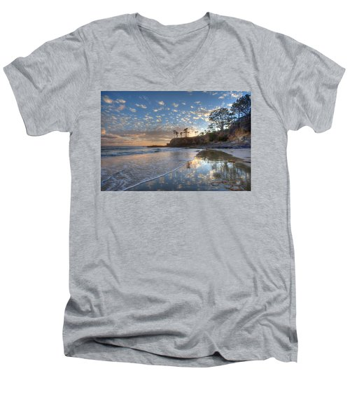 Wet Sand Reflections Laguna Beach Men's V-Neck T-Shirt