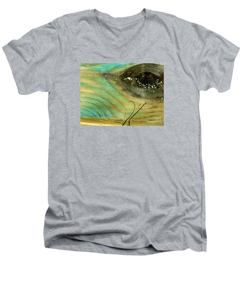 Whale Eye Men's V-Neck T-Shirt by Michael Cinnamond