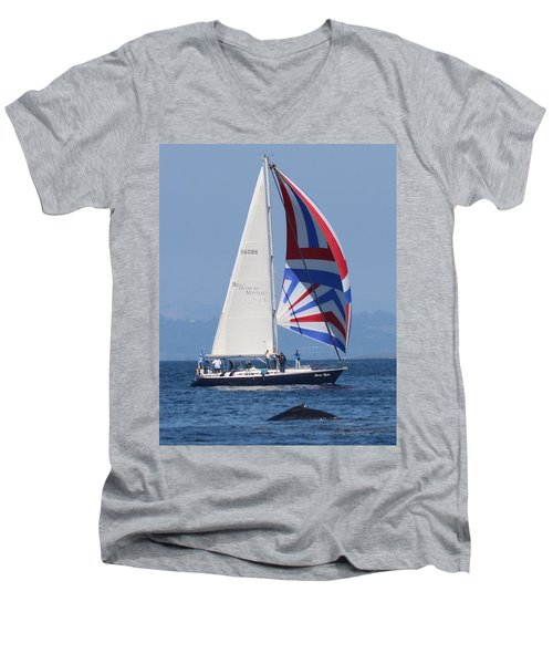 Whale Watching 1 Men's V-Neck T-Shirt