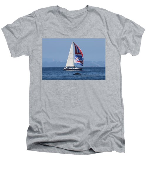 Whale Watching 2  Men's V-Neck T-Shirt