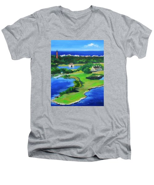 Whalehead Overview Men's V-Neck T-Shirt by Anne Marie Brown
