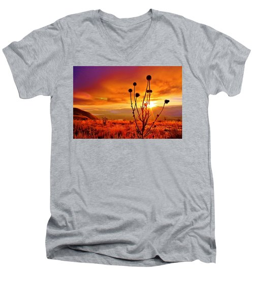 What A Morning Men's V-Neck T-Shirt by Catie Canetti