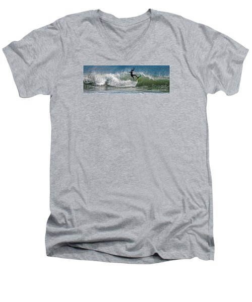Men's V-Neck T-Shirt featuring the photograph What A Ride by Sami Martin