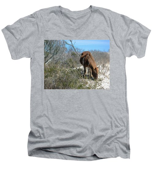 Men's V-Neck T-Shirt featuring the photograph What Do I See Here? by Photographic Arts And Design Studio
