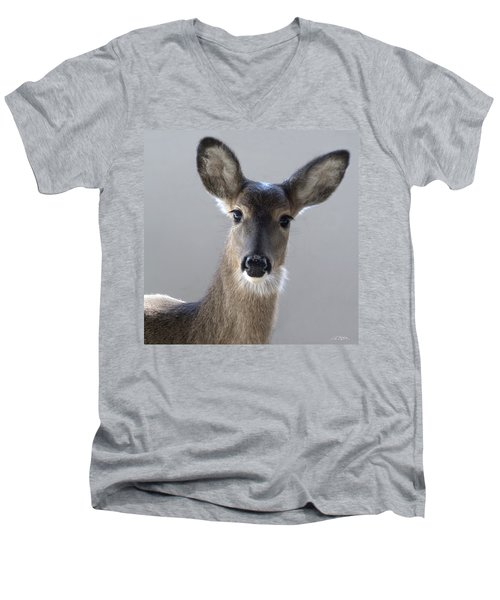 What Is Up With Mike? Men's V-Neck T-Shirt by Bill Stephens