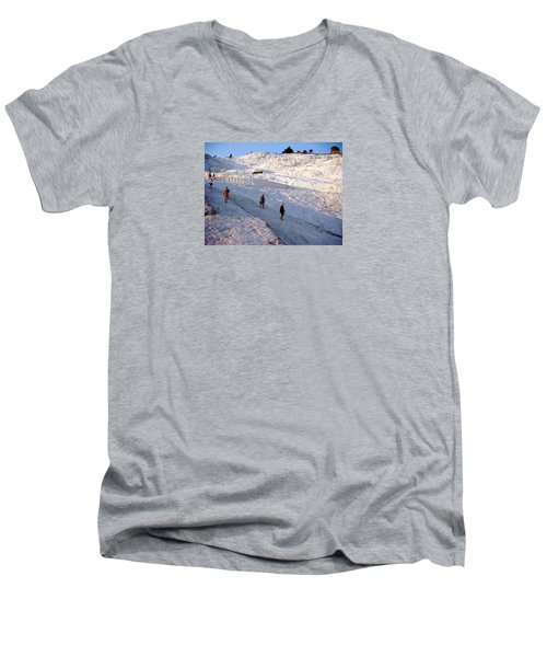 Men's V-Neck T-Shirt featuring the photograph What Is Wrong In This Picture by Zafer Gurel