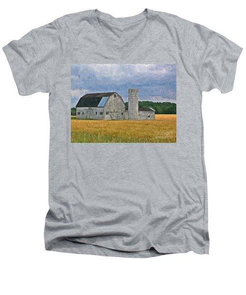 Wheat Field Barn Men's V-Neck T-Shirt