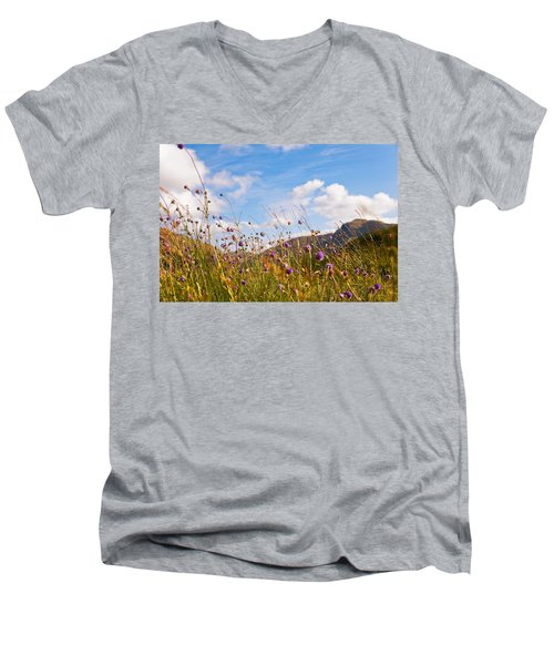When The Sun Is Shining Everything Around Smiling Towards. Scotland Men's V-Neck T-Shirt